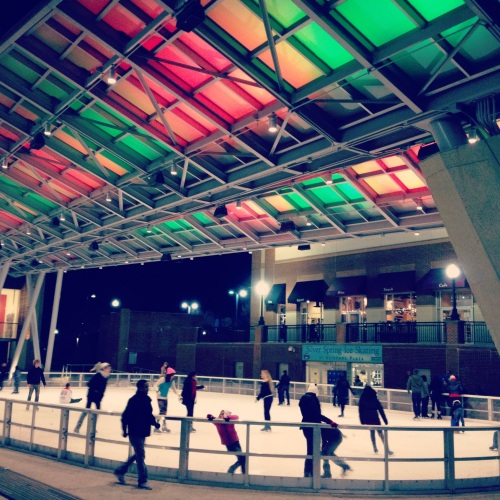 We're lucky to have a killer outdoor skating rink only 5 minutes from our apartment in Downtown Silver Spring.