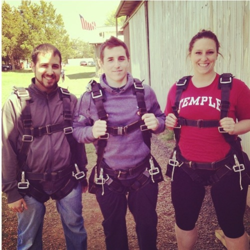 My boys and I getting ready to jump.