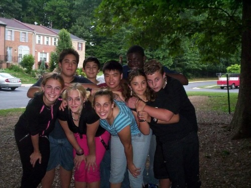 A group of sweaty, emotional teenagers the day I left for Pennsylvania.
