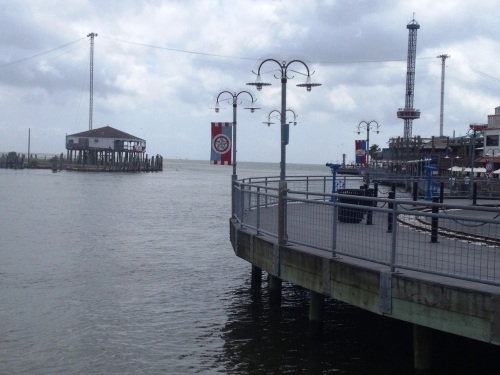 Kemah Boardwalk - before the clouds cleared up.