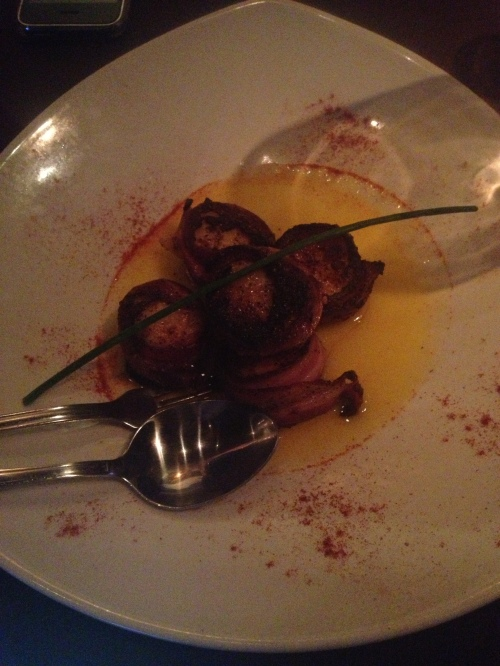 Mike's scallops, which he devoured.