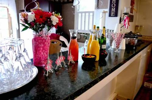 My favorite thing: a mimosa bar. Photo courtesy of B. Roons.