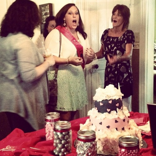 ...And my reaction to said amazing cake.