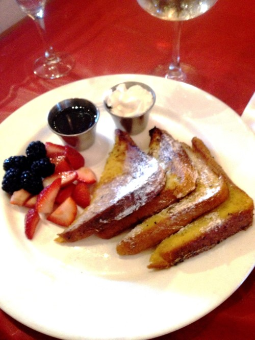 I know this looks like ordinary french toast, but its actually some of the best french toast in the world.